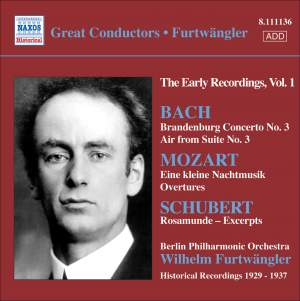 Furtwängler - The Early Recordings Volume 1