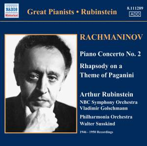 Rubinstein plays Rachmaninov Product Image