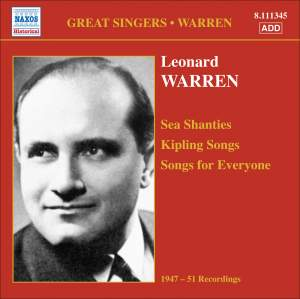 Leonard Warren - Sea Shanties, Kipling Songs & Songs for Everyone