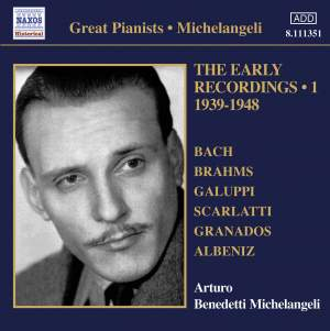 Michelangeli - The Early Recordings Volume 1 Product Image