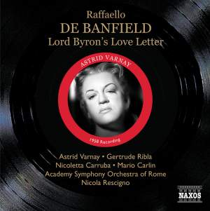 Banfield, R: Lord Byron's Love Letter Product Image