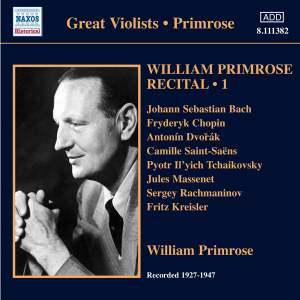 William Primrose Recital Volume 1