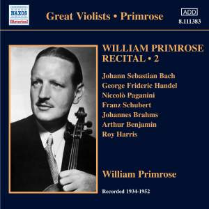 William Primrose Recital Volume 2 Product Image