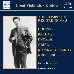 Kreisler: The Complete Recordings Volume 5