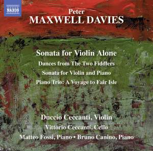 Sir Peter Maxwell Davies: Sonata for Violin Alone