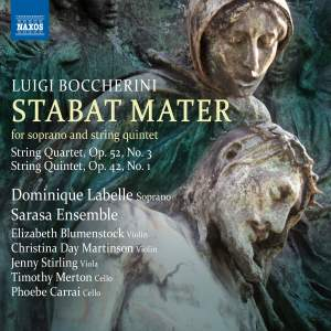 Boccherini: Stabat Mater, String Quartet Op. 52 No.3, String Quintet Op. 42, No. 1 Product Image