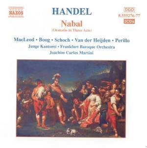 Smith, J C: Nabal (pastiche oratorio compiled from works by Handel) Product Image