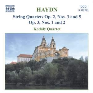 Haydn: String Quartet, Op.  2 No. 3 in E flat major, etc.