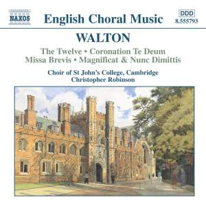 Walton: The Twelve, Coronation Te Deum, Missa Brevis, Magnificat & Nunc Dimittis Product Image