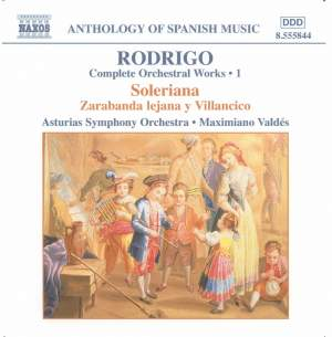 Rodrigo: Complete Orchestral Works, Vol. 1 Product Image