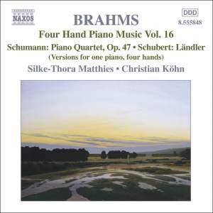 Brahms: Four Hand Piano Music, Volume 16