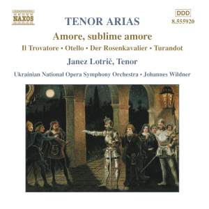 Amore, sublime amore: Tenor Arias Product Image