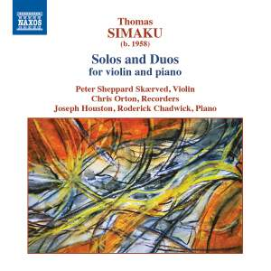 Thomas Simaku: Solos and Duos for violin and piano Product Image