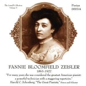 Zeisler, Fannie Bloomfield: Piano Roll Recordings