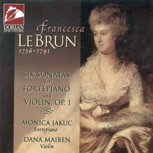 LeBrun, F: Sonatas (6) for fortepiano and violin, Op. 1 Product Image