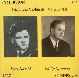 The Great Violinists Volume XX