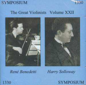 The Great Violinists Volume XXII