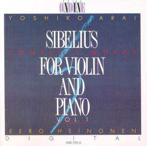 Sibelius: Complete Violin and Piano Music, Vol. 1 Product Image