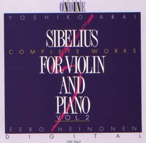 SIBELIUS, J.: Violin and Piano Music (Complete), Vol. 2