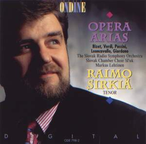 Opera Arias (Tenor): Sirkia, Raimo - BIZET, G. / VERDI, G. / PUCCINI, G. / LEONCAVALLO, R. / GIORDANO, U. Product Image