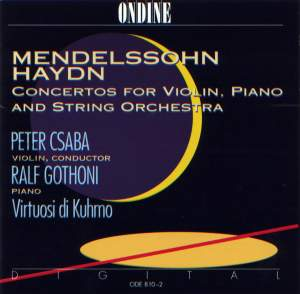 Mendelssohn & Haydn: Concertos for Violin and Piano Product Image
