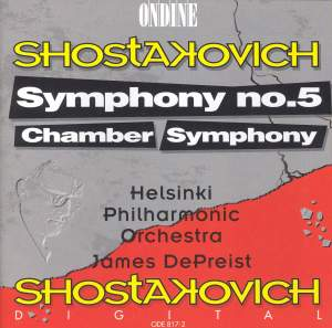Shostakovich: Symphony No. 5 & Chamber Symphony in C minor Product Image