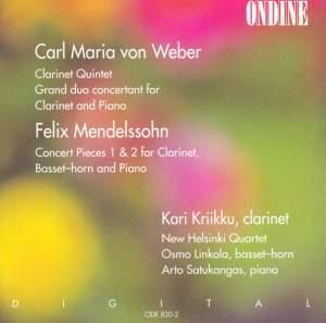Clarinet Chamber Music by Weber & Mendelssohn Product Image