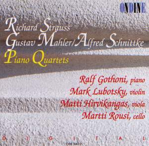 Piano Quartets by Strauss, Mahler & Schnittke Product Image