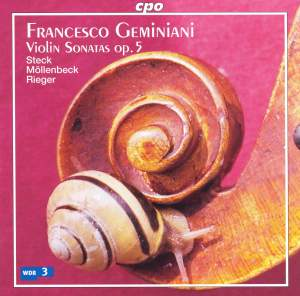 Geminiani, F: Violin Sonatas Op. 5 Product Image