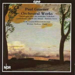 Paul Graener: Orchestral Works Vol. 1