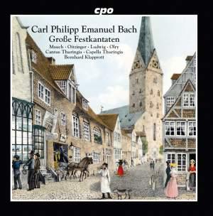 CPE Bach: Große Festkantaten