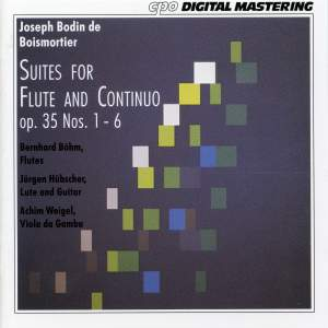 Boismortier: Suites for Flute & Continuo, Op. 35 Nos. 1-6