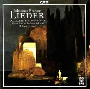 Brahms - Complete Lieder Edition Volume 5