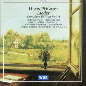 Pfitzner: Complete Lieder Edition, Vol. 4