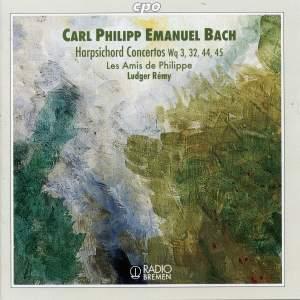 CPE Bach: Harpischord Concertos Wq. 3, 32, 44 & 45