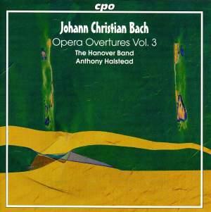 JC Bach: Opera Overtures, Vol. 3