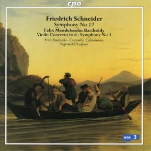 Sigiswald Kuijken Conducts Schneider & Mendelssohn