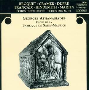 Georges Athanasiadès plays Broquet, Cramer, Dupré, Françaix, Hindemith & Martin