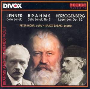 Jenner: Cello Sonata / Herzogenberg: Legenden / Brahms: Cello Sonata No. 2 Product Image