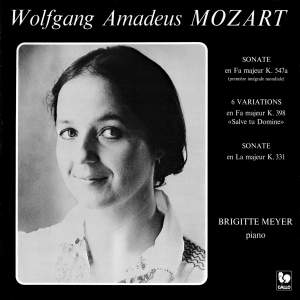 Mozart: Piano Sonata No. 17 in F Major, K. 547a - 6 Variations on 'Salve tu, Domine' in F Major, K. 398 - Piano Sonata No. 11 in A Major, K. 331