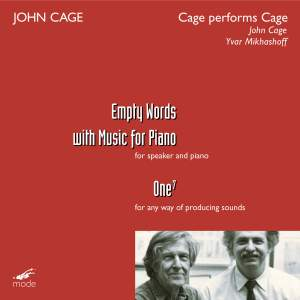 Cage Edition Volume 41 - Cage Performs Cage