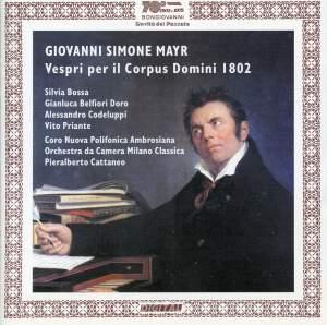 Mayr: Vespri per il Corpus Domini 1802