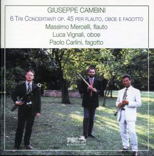 Cambini: Trios (6) for flute, oboe and bassoon, Op. 45 Product Image
