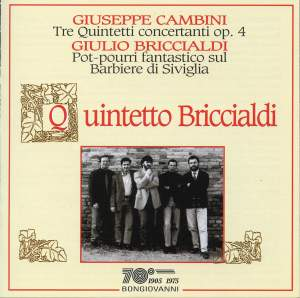 Cambini: Three Wind Quintets Product Image