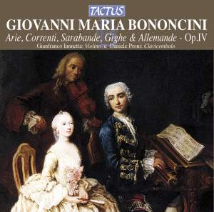 Bononcini, G M: Arie, correnti, sarabande, gighe et alemande, Op. 4