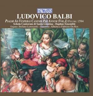 Balbi, Ludovico: Psalmi ad Vesperas Canendi per annum, Vol. 1