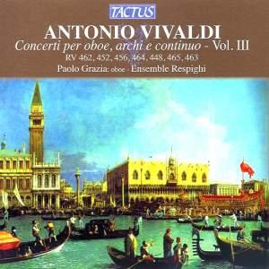 Vivaldi: Concerti per oboe, archi e continuo, Vol. 3
