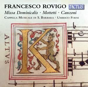 Rovigo: Missa Dominicalis, Motetti & Canzoni Product Image