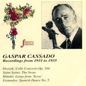 Gaspar Cassado: Recordings from 1931 to 1935