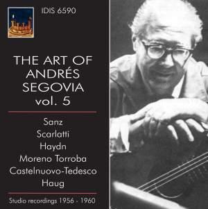 The Art of Andrés Segovia, Volume 5